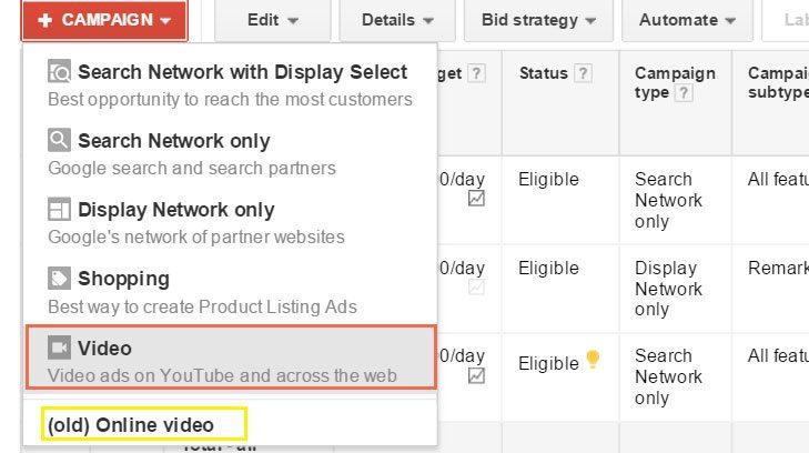 AdWords TrueView Video